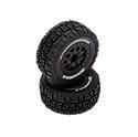 Electrix Tire Set Black (Premounted) Tor
