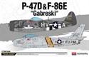 Acadamy 1/72 P-47 & F86E Gabreski