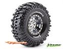 "CR Champ 1.9"" Crawler Tire Super Soft Black Chrome Rim (2)"