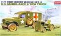 Acadamy 1/72 US Ambulance & Tracktor