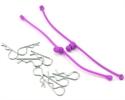 DuBro Body Clip Retainers Purple