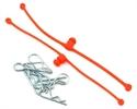 Dubro Body Clip Retainers Orange