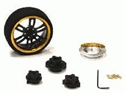 Evolution Steering Wheel Gold Black