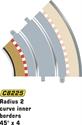 Scalextric Radius 2 Inner Border/Barriers